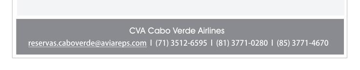 CVA - CABO VERDE AIRLINES  |  reservas.caboverde@aviareps.com