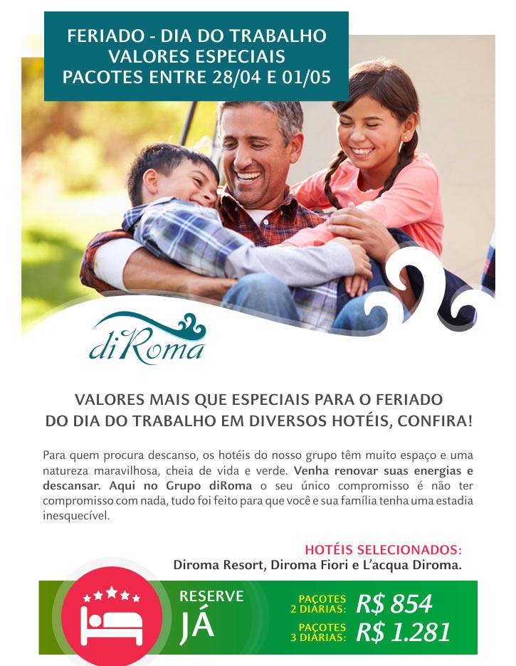 FERIADO - DIA DO TRABALHO VALORES ESPECIAL PACOTES ENTRE 28/04 E 01/05 - OS MELHORES HOTÉIS DAS ÁGUAS QUENTES  |  CONHEÇA TODAS AS OPÇÕES