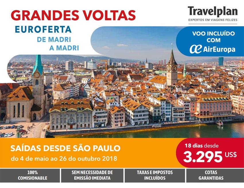 GRANDES VOLTAS EUROFERTA DE MADRI A MADRI     TRAVELPLAN EXPERTOS EM VIAGENS FELIZES - www.travelplaninternacional.com