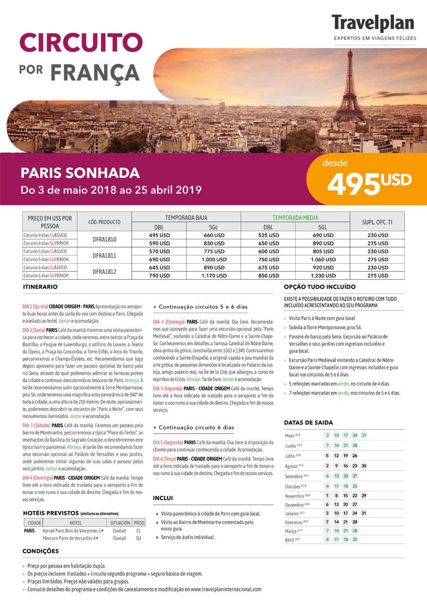 CIRCUITO POR FRANÇA - PARIS SONHADA  |  TRAVELPLAN EXPERTOS EM VIAGENS FELIZES - www.travelplaninternacional.com