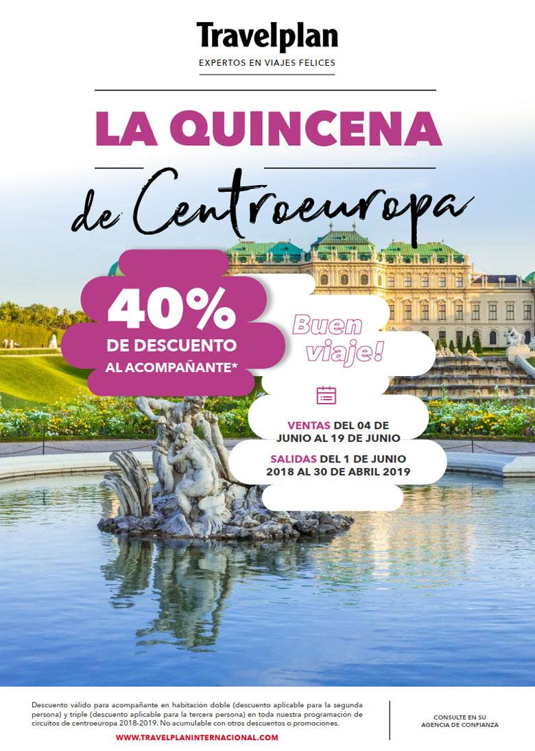 LA QUINZENA DE CENTROEUROPA - 40% DE DESCONTO PARA ACOMPANHANTE  |  TRAVELPLAN EXPERTOS EM VIAGENS FELIZES - www.travelplaninternacional.com