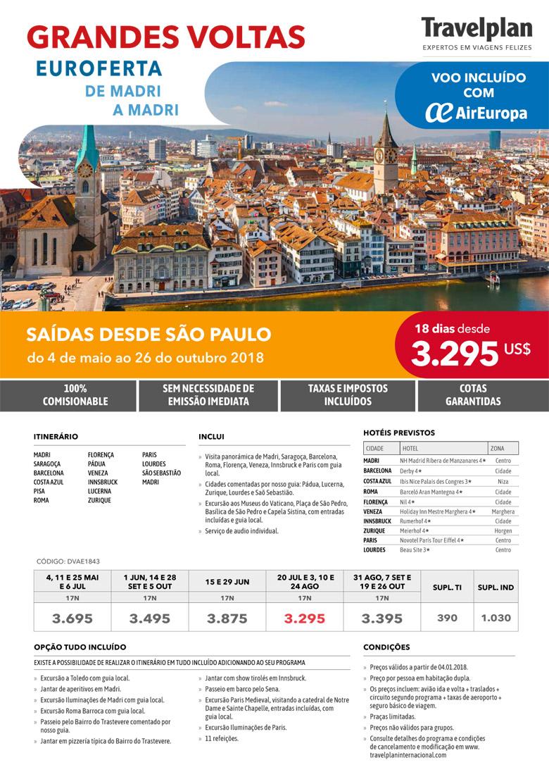 GRANDES VOLTAS - EUROFERTA DE MADRI A MADRI     TRAVELPLAN EXPERTOS EM VIAGENS FELIZES - www.travelplaninternacional.com