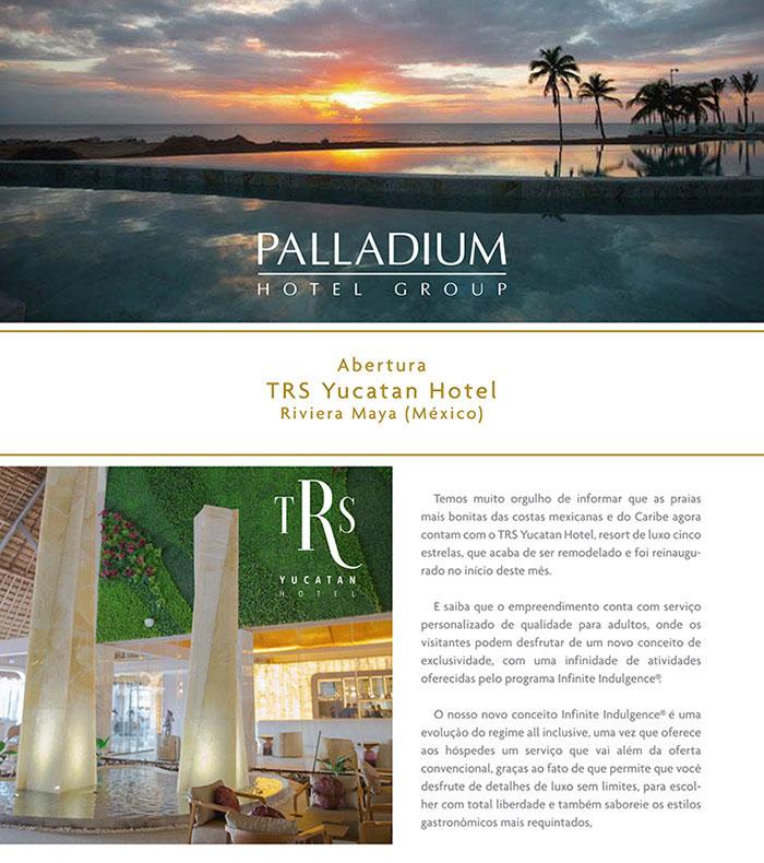 PALLADIUM HOTEL GROUP - Conheça o novo TRS Yucatán Hotel – Riviera Maya (CUN-México)