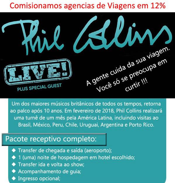 PHIL COLLINS - TURNÊ PELA AMÉRICA LATINA  |  E-mail: contato@gtfbrasil.com.br  | GTF BRASIL