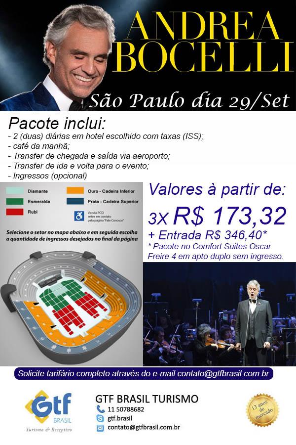 ANDREA BOCELLI EM SÃO PAULO  |  E-mail: contato@gtfbrasil.com.br  | GTF BRASIL