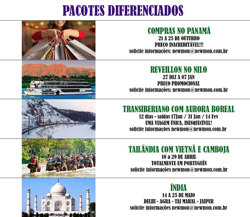 NEWMON - PACOTES DIFERENCIADOS E FAMTURS - clique aqui para mais detalhes