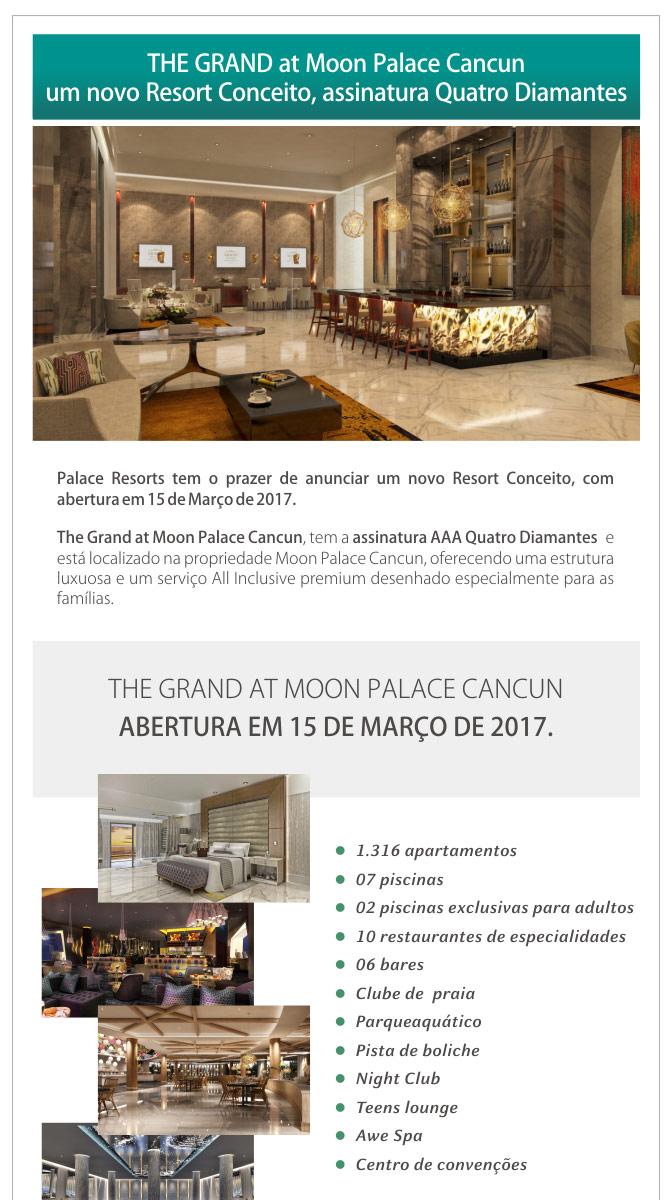 THE GRAND at Moon Palace Cancun um novo Resort Conceito, assinatura Quatro Diamantes