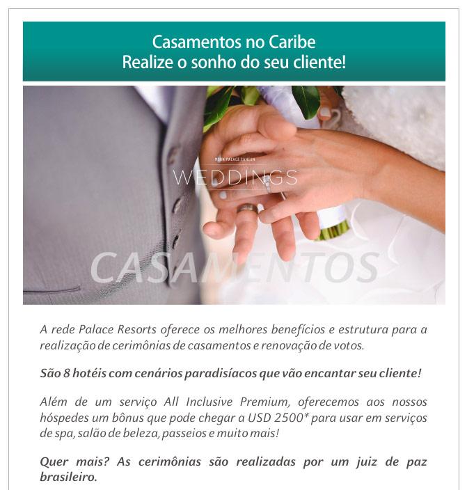 CASAMENTOS NO CARIBE - REALIZE O SONHO DO SEU CLIENTE !