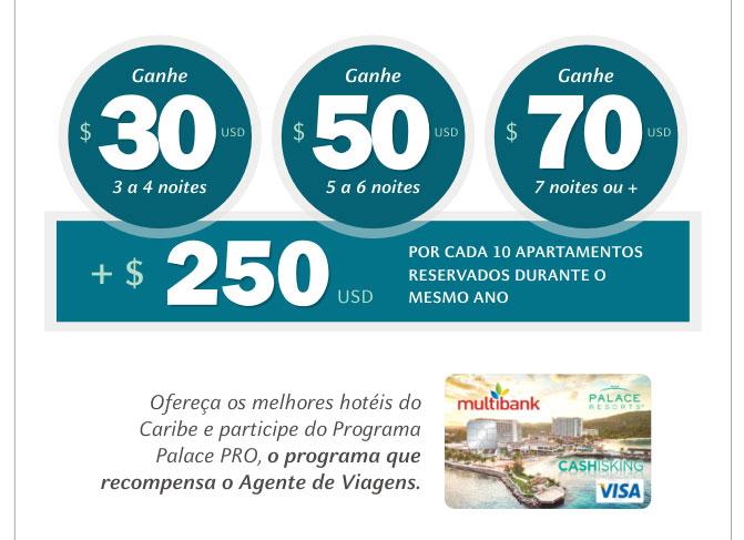OFEREÇA OS MELHORES HOTÉIS DO CARIBE E PARTICIPE DO PROGRAMA PALACE PRO