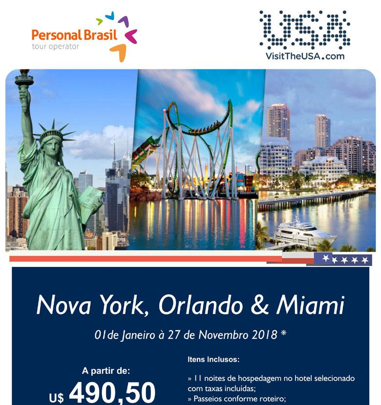 NOVA YORK, ORLANDO & MIAMI     PERSONAL BRASIL TOUR OPERATOR