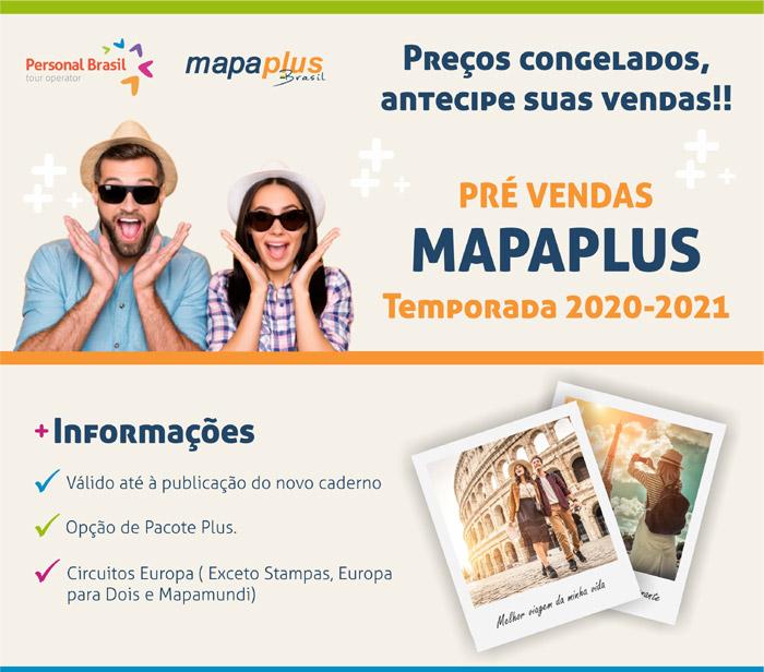 Preços congelados, antecipe suas vendas!! PRÉ VENDAS MAPAPLUS Temporada 2020/21 – Confira!