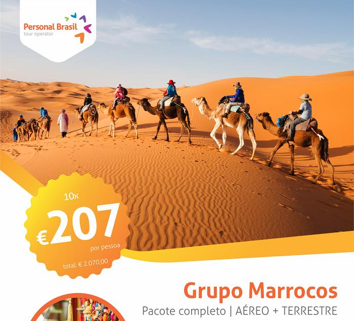 Bloqueio Marrocos | AÉREO + TERRESTRE | Somente 10x de € 207,00