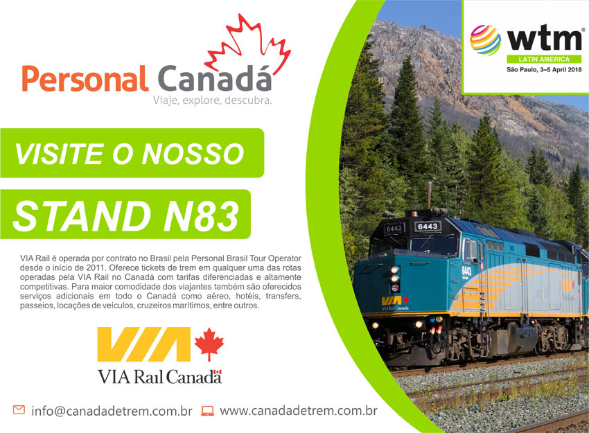 PERSONAL CANADÁ  |  VISITE O NOSSO STAND NA WTM  - N83