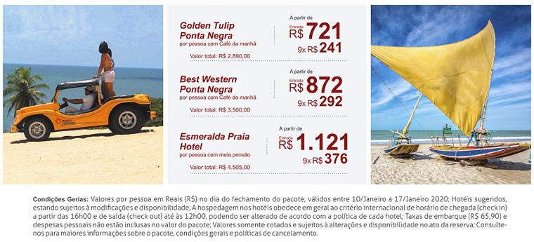 Férias de Janeiro em NATAL | Bloqueio de Aéreo + Terrestre: A partir de R$ 2.845,00 - Confira!