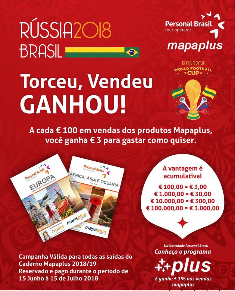 Mapaplus & Personal Brasil - Torceu, Vendeu, Ganhou! Participe!