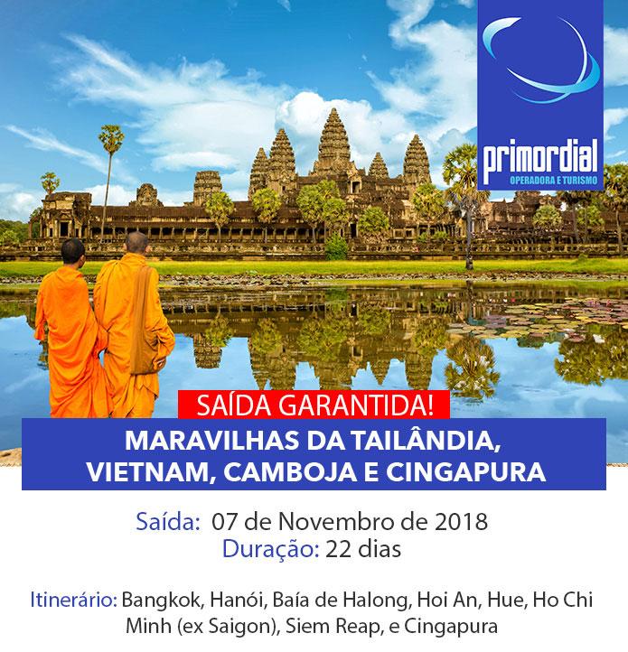 GRUPO INDOCHINA: Tailândia, Laos, Vietnã, Camboja e Cingapura | SAÍDA GARANTIDA
