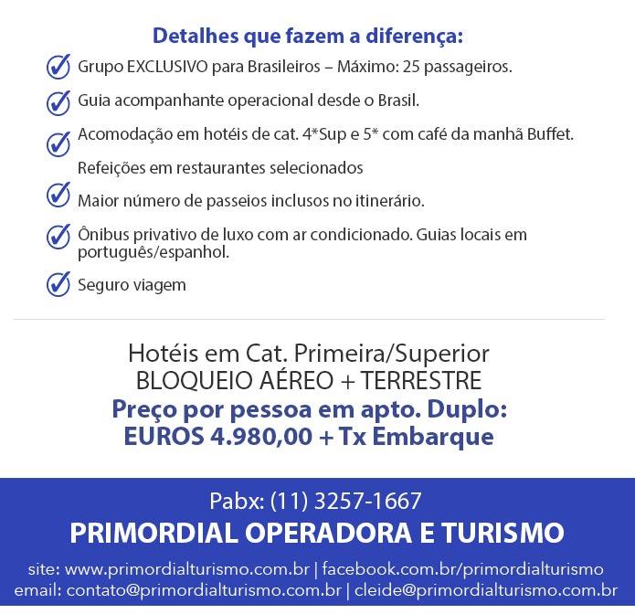 DETALHES QUE FAZEM A DIFERENÇA - PRIMORDIAL OPERADORA E TURISMO - www.primordialoperadora.com.br