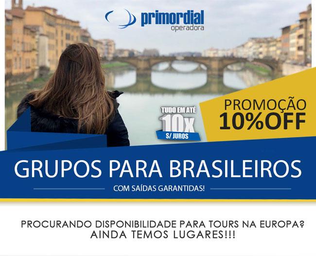 PROMOÇÃO 10% OFF GRUPOS PARA BRASILEIROS