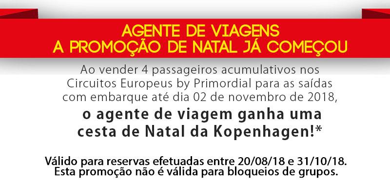AGENTE DE VIAGENS A PROMOÇÃO DE NATAL JÁ COMEÇOU