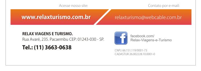 RELAX TURISMO RECEPTIVO - A sua agência de Turismo Receptivo em São Paulo.