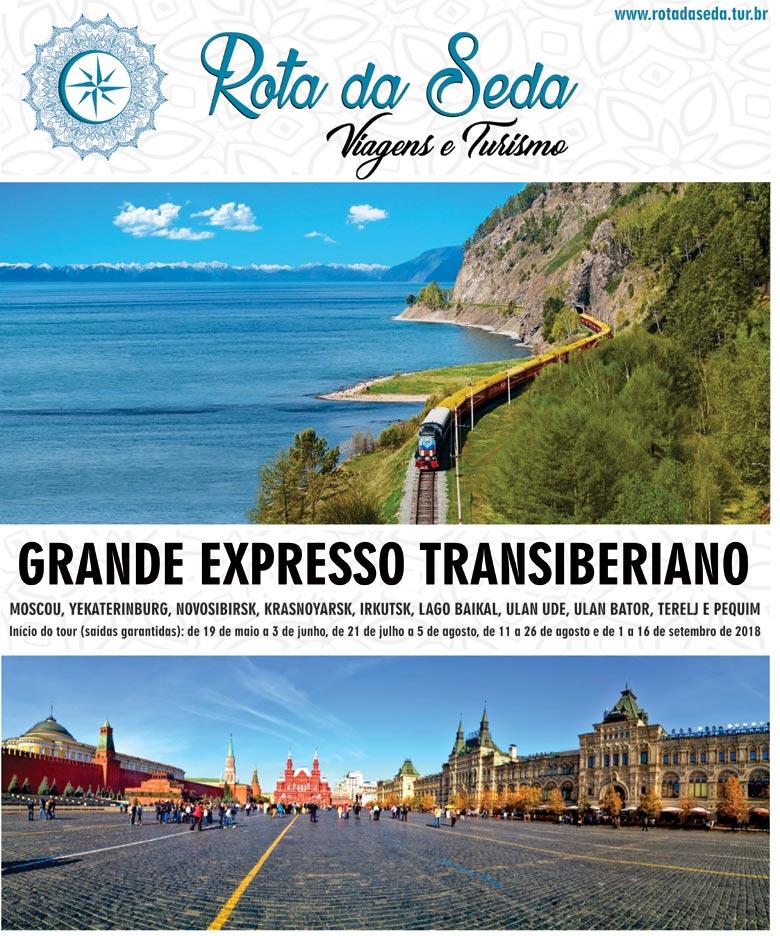 GRANDE EXPRESSO TRANSIBERIANO - ROTA DA SEDA VIAGENS E TURISMO  -  www.rotadaseda.tur.br