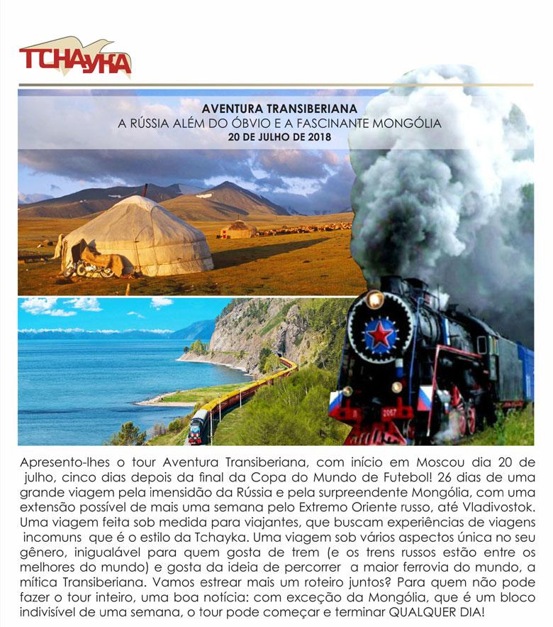 AVENTURA TRANSIBERIANA - A RÚSSIA ALÉM DO ÓBVIO E A FASCINANTE MONGÓLIA  -  TCHAYKA  |  www.tchayka.com.br
