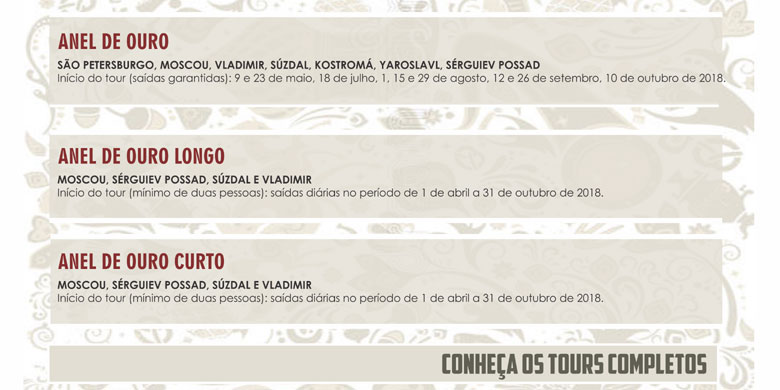 CONHEÇA OS TOURS COMPLETOS
